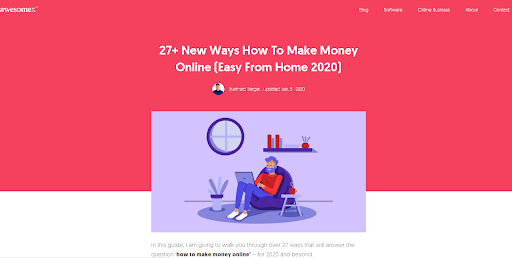 How to make money online graphic