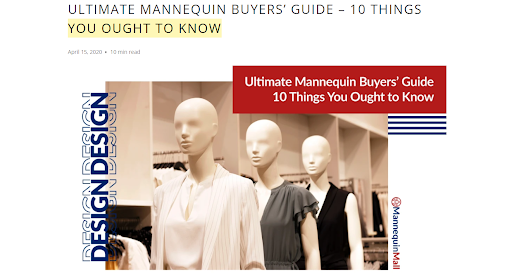Mannequin Buyers Guide