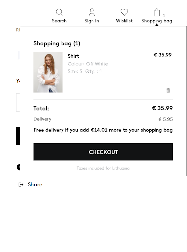 image of checkout cart